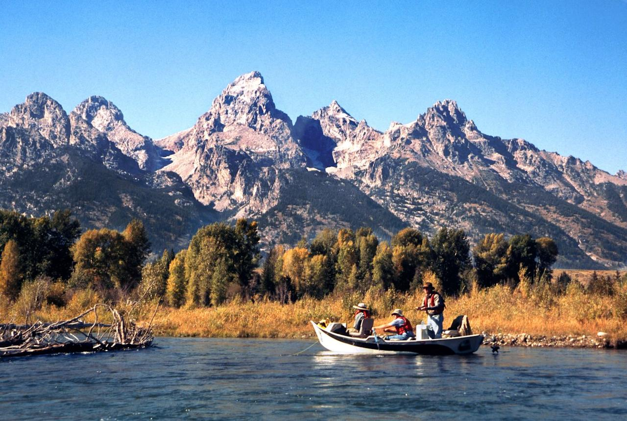 """<p>When you think of a national park in Wyoming, you probably think of Yellowstone, but that's certainly not all the state has to offer. The <a href=""""https://www.nps.gov/grte/planyourvisit/index.htm"""" target=""""_blank"""">Grand Tetons</a> feature a stunning landscape of rocky mountains, glassy lakes, colorful wildflowers, and interesting wildlife. </p>"""