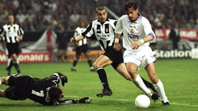 Predrag Mijatovic memastikan kemenangan Real Madrid atas Juventus pada laga final Liga Champions 1998. (doc. UEFA)