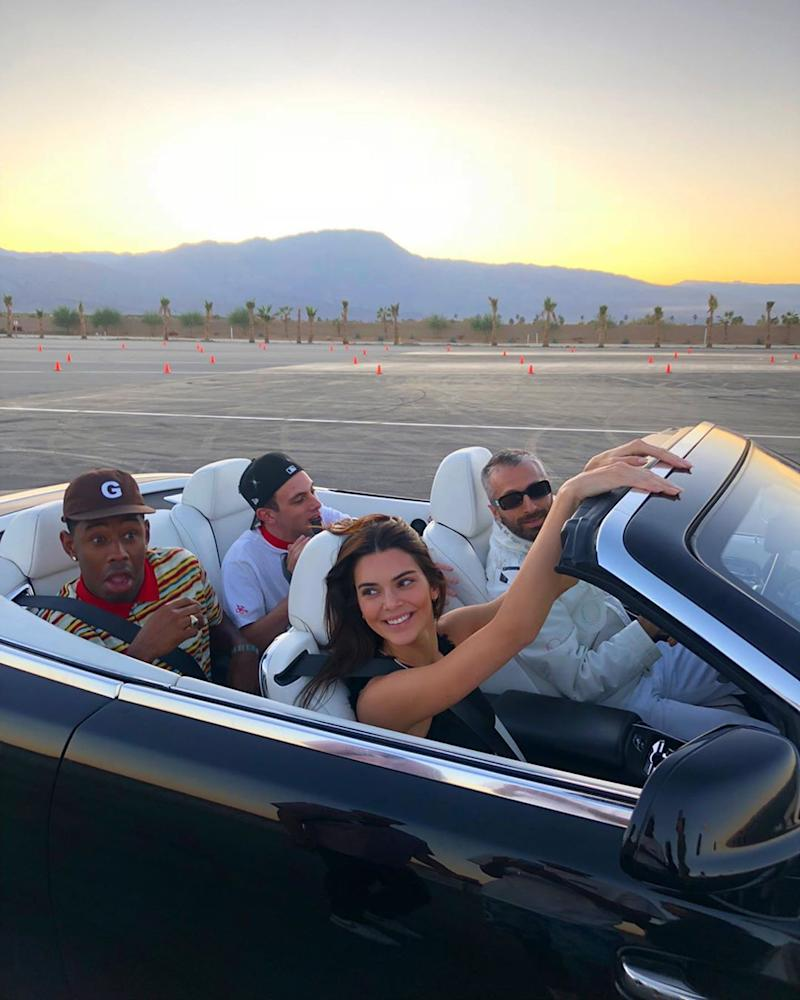 Kendall Jenner faces backlash after spending her birthday at a race track. (Photo: Instagram)