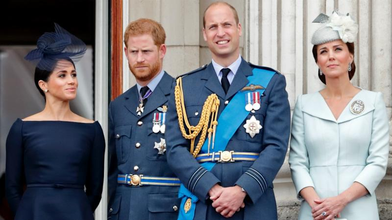 The four senior royals have reunited for a charitable campaign. Photo: Getty