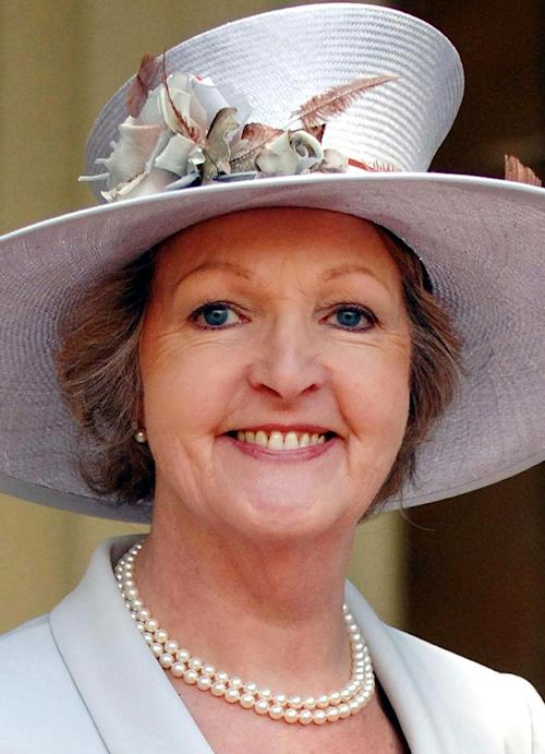 FILE - This is a March 21, 2007 file photo of British actress Penelope Keith It was announcement Tuesday Dec. 31, 2013 that Keith was made a Dame in Queen Elizabeth's New Year's honours list. (AP Photo/Fiona Hanson/PA, File) UNITED KINGDOM OUT