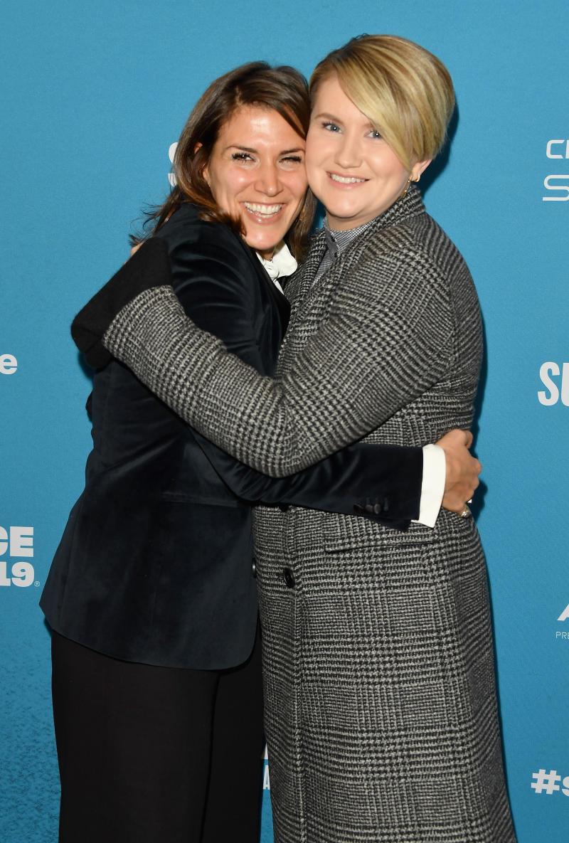 Une photo du film d'inspiration Brittany O'Neill (L) et de l'acteur et comédien Jillian Bell dans le film