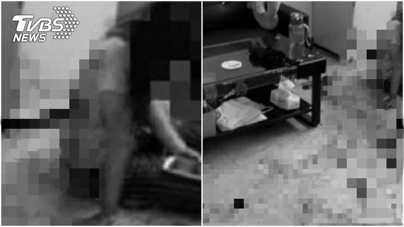 孕婦遭租客持剪刀猛刺。(圖/翻攝自臉書;圖片經變色、馬賽克處理)