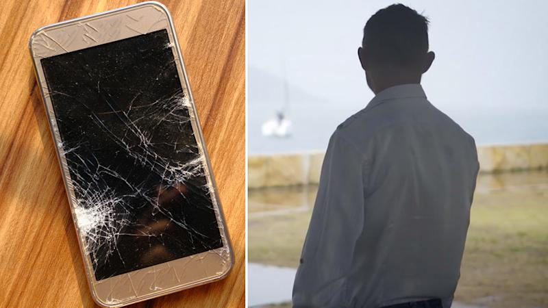 Dad charged after smashing daughter's phone over a chocolate bar