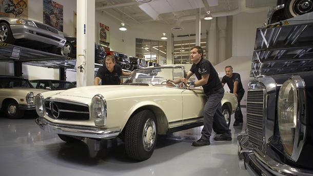 Inside Mercedes' workshop for restoring its classics