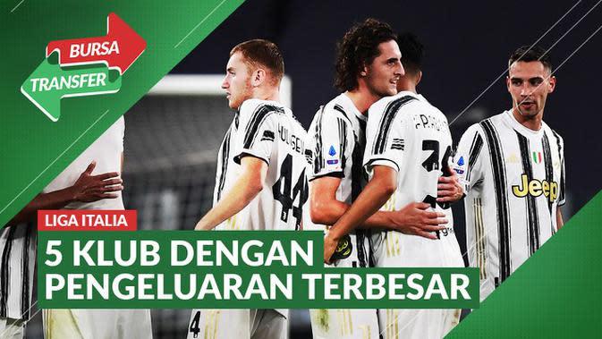 MOTION GRAFIS: 5 Klub Liga Italia dengan Pengeluaran Terbesar pada Bursa Transfer Musim Panas 2020