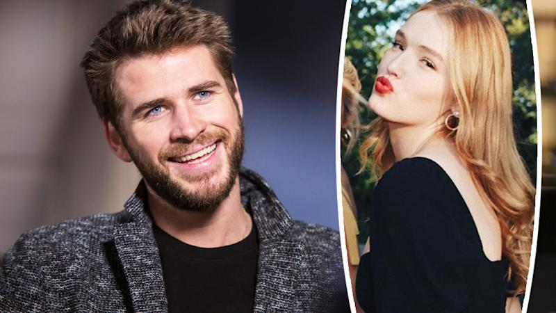 A composite photo of Liam Hemsworth and Maddison Brown.