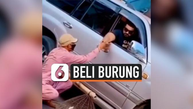 VIDEO: Viral Aksi Pria Sengaja Beli Burung Lalu Dilepaskan
