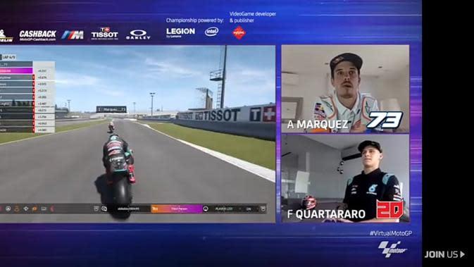Alex Marquez juara MotoGP Virtual Race Jilid IV. (Istimewa)