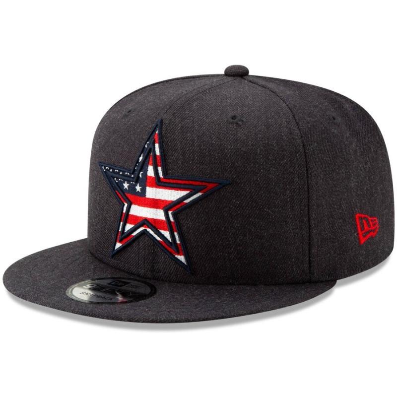 Men's New Era Navy Dallas Cowboys Americana 9FIFTY Adjustable Snapback Hat