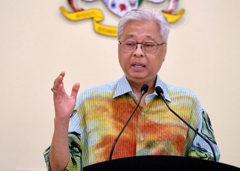 File picture shows Senior Minister Datuk Seri Ismail Sabri Yaakob speaking at a press conference in Putrajaya May 16, 2020. — Bernama pic