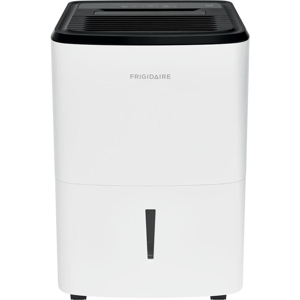 """<p><strong>Frigidaire</strong></p><p>homedepot.com</p><p><strong>$223.09</strong></p><p><a href=""""https://go.redirectingat.com?id=74968X1596630&url=https%3A%2F%2Fwww.homedepot.com%2Fp%2FFrigidaire-High-Humidity-50-Pint-Capacity-Dehumidifier-FFAD5033W1%2F312546305&sref=https%3A%2F%2Fwww.goodhousekeeping.com%2Fappliances%2Fg27192069%2Fbest-dehumidifier%2F"""" target=""""_blank"""">Shop Now</a></p><p>This dehumidifier came out on top because it has <strong>simple, helpful features. </strong>A digital read-out helps you monitor the current humidity, and the circular window shows you when the bucket needs a change (you can also connect a hose for continuous drainage). The cord wraps around hooks on the back for easy storage, and the side handles and wheels make it a breeze to move around.  </p>"""