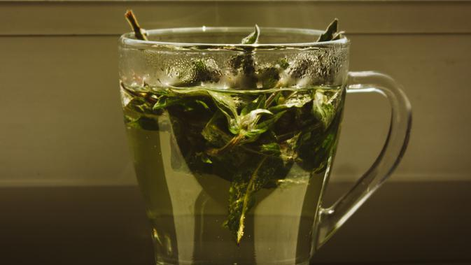ilustrasi teh hijau sebagai masker/unsplash