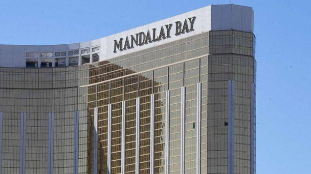 PHOTO: Broken windows are seen at the Mandalay Bay Resort and Casino, Oct. 2, 2017, in Las Vegas. (Mark Ralston/AFP/Getty Images)