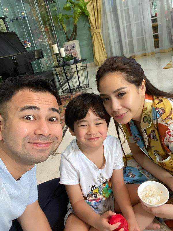 Potret keluarga Raffi Ahmad dan Nagita Slavina. (Instagram/raffinagita1717)