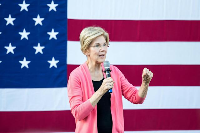 Ms Warren has supported an impeachment probe of the president but warned Democrats not to overreach: Getty