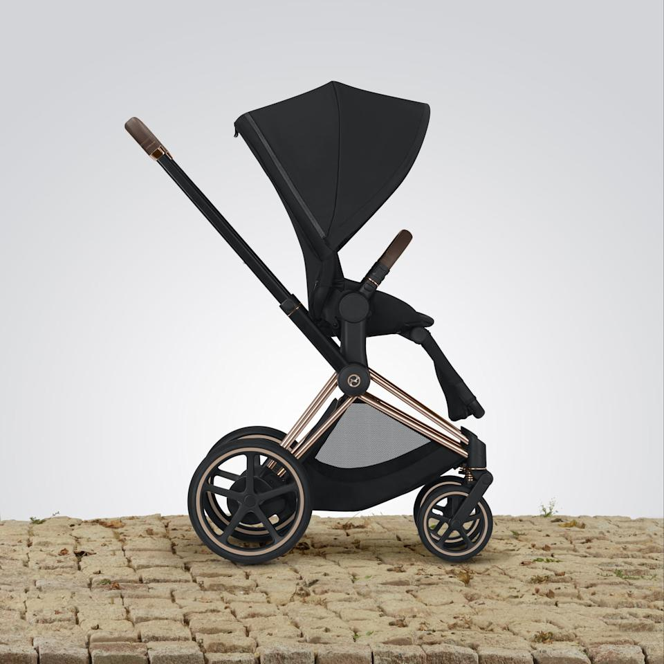 """<p>""""Welcome to the future, a time when you no longer have to struggle to get your stroller uphill or downhill or over uneven terrain while on long walks with your kiddo. The <a href=""""https://www.popsugar.com/buy/Cybex-e-PRIAM-Stroller-463819?p_name=Cybex%20e-PRIAM%20Stroller&retailer=cybexonlineshop.com&pid=463819&price=1%2C400&evar1=moms%3Aus&evar9=46317263&evar98=https%3A%2F%2Fwww.popsugar.com%2Fphoto-gallery%2F46317263%2Fimage%2F46320339%2FCybex-e-PRIAM-Stroller&list1=must%20haves%2Csummer%2Ckid%20shopping%2Cmom%20shopping%2Cbaby%20shopping&prop13=api&pdata=1"""" rel=""""nofollow"""" data-shoppable-link=""""1"""" target=""""_blank"""" class=""""ga-track"""" data-ga-category=""""Related"""" data-ga-label=""""http://www.cybexonlineshop.com/strollers/priam/priam-3-in-1-travel-system.html"""" data-ga-action=""""In-Line Links"""">Cybex e-PRIAM Stroller</a> ($1,400, available July 15) is the first stroller of its kind, designed to make your life easier with its innovative technology. Within its handlebars are sensors that can detect the pressure of pushing, whether you're trying to get over a door threshold, up a steep hill, or over a root growing into the sidewalk. The motor in the back axle will activate to help you get over the obstacle smoothly. Conversely, to avoid rolling too quickly down a hill, the stroller will slow itself down. It's seriously awesome!"""" - Alessia Santoro, editor, Family</p>"""