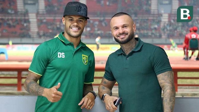 David da Silva dan Antonio Teles (kanan). (Bola.com/Aditya Wany)