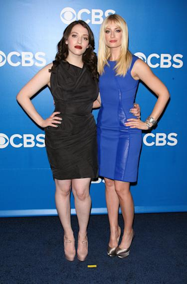 CBS Upfront 2012 - Kat Dennings and Beth Behrs