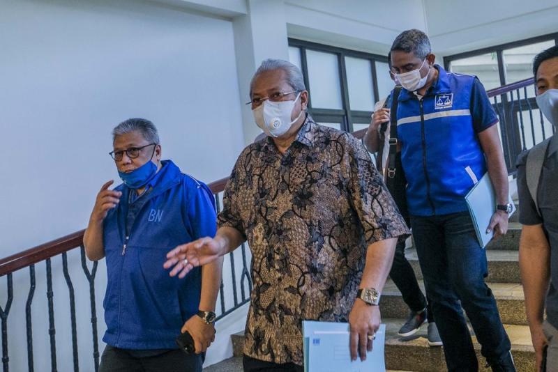 Barisan Nasional (BN) secretary-general Tan Sri Annuar Musa is pictured during the Gabungan Rakyat Sabah (GRS) meeting at the Hotel Magellan in Kota Kinabalu September 27, 2020. — Picture by Firdaus Latif