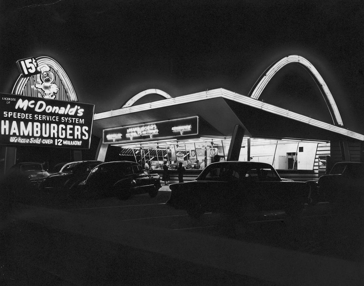 <p>In 1955, businessman Raymond Kroc joined the company and transformed it into the iconic fast food joint we know today—and he eventually bought the brothers out for $2.7 million in 1961. Fun fact: The original McDonald's mascot was a chef hat on top of a winking hamburger face named Speedee (pictured).</p>