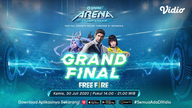GoPay Arena Championship Grand Final Free Fire. (Sumber: Vidio)