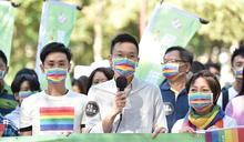 林飛帆率民進黨挺同志遊行 婚姻平權還有努力空間