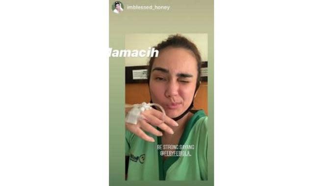 Jalani Operasi Kista Ovarium, Ini 6 Potret Terbaru Feby Febiola (sumber: Instagram.com/ernideborah19)