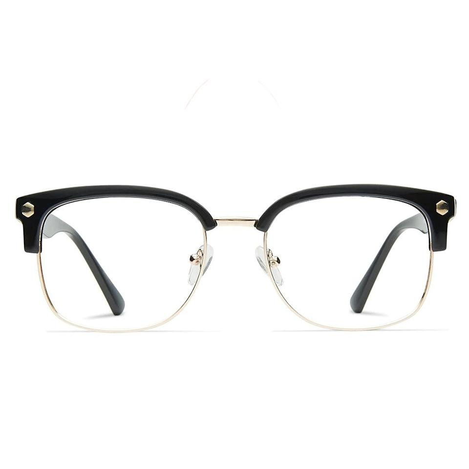 """<p><strong>Muse</strong></p><p>glassesusa.com</p><p><strong>$94.00</strong></p><p><a href=""""https://go.redirectingat.com?id=74968X1596630&url=https%3A%2F%2Fwww.glassesusa.com%2Fblackgold-medium%2Felliot%2F31-m10033.html&sref=https%3A%2F%2Fwww.bestproducts.com%2Fmens-style%2Fg33594937%2Fstylish-glasses-frames-for-men%2F"""" target=""""_blank"""">Shop Now</a></p><p>These frames from Muse have a retro vibe to them, inspired by the 1950s' Browline glasses style. We love the black/gold color combination for a classic look, but you can find this style in black/gunmetal and tortoise/gold as well.</p>"""