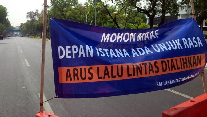 Demo Buruh, Rekayasa Lalu Lintas di Sekitar Istana Kembali Diberlakukan