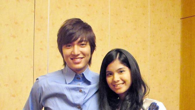 Annisa Pohan dan Lee Min Ho. (Foto: Instagram @annisayudhoyono)