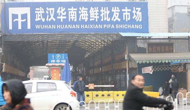 The wholesale seafood market in Wuhan where the virus is thought to have spread. Photo: Simon Song