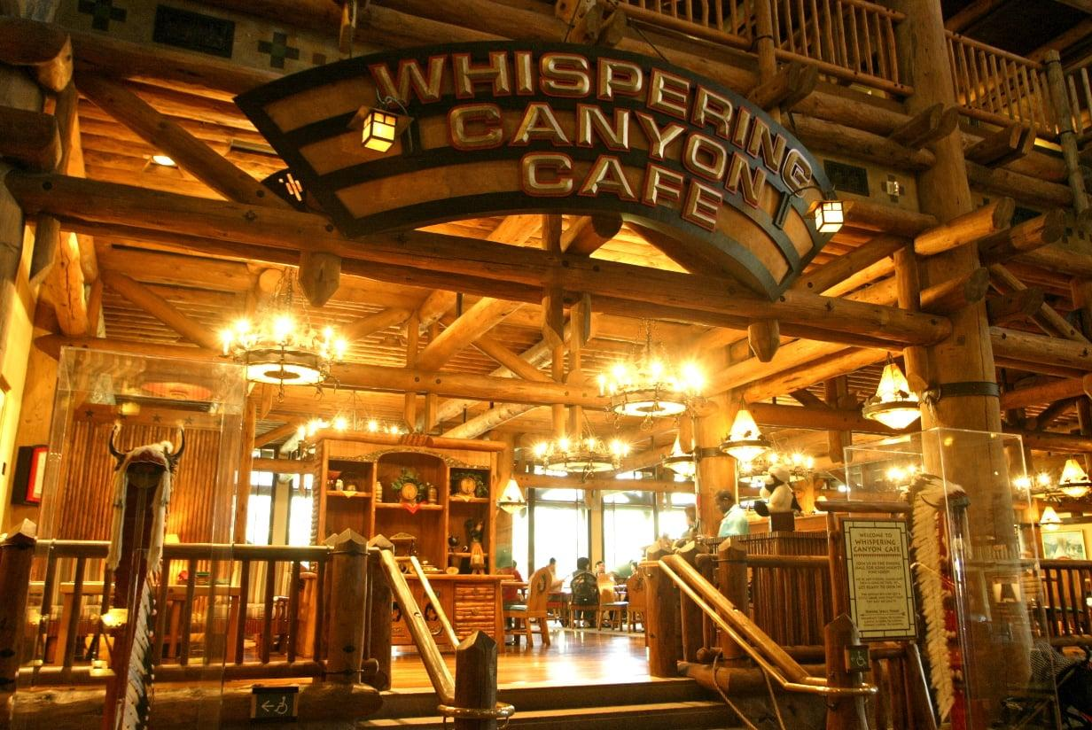 """<p><a href=""""https://disneyworld.disney.go.com/dining/wilderness-lodge-resort/whispering-canyon-cafe/"""" target=""""_blank"""" class=""""ga-track"""" data-ga-category=""""Related"""" data-ga-label=""""https://disneyworld.disney.go.com/dining/wilderness-lodge-resort/whispering-canyon-cafe/"""" data-ga-action=""""In-Line Links"""">Whispering Canyon Cafe</a> is one of our favorite restaurants at <a href=""""https://www.popsugar.com/family/Tips-Saving-Money-Family-Disney-Vacation-46164040"""" class=""""ga-track"""" data-ga-category=""""Related"""" data-ga-label=""""http://www.popsugar.com/family/Tips-Saving-Money-Family-Disney-Vacation-46164040"""" data-ga-action=""""In-Line Links"""">Walt Disney World</a> for families, especially for breakfast. While their traditional American breakfast fare is delicious, the restaurant is really known for all the ruckus and fun that happens while dining. Kids get to gallop around the restaurant on stick horses and take part in wild games during mealtime. </p> <p><strong>Location:</strong> Disney's Wilderness Lodge Resort, Lobby<br> <strong>Dining Experience:</strong> Table service<br> <strong>Reservations:</strong> Highly recommended</p>"""