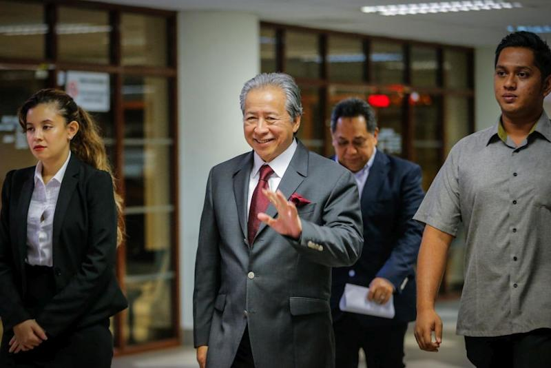 Datuk Seri Anifah Aman is running in the Bongawan seat and has said that PCS would contest an ambitious 72 seats with the aim of forming the state government on its own. ― Picture by Hari Anggara