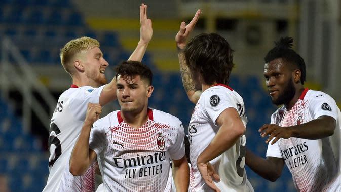 Crotone vs AC Milan: Brahim Diaz Menangkan I Rossoneri (AP)