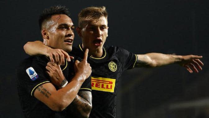 Lautaro Martinez menyumbang gol untuk Inter Milan saat berhadapan dengan Brescia. (dok. Inter Milan)