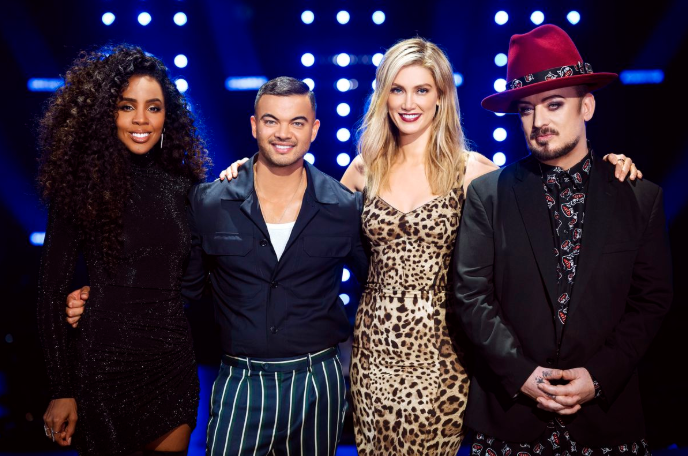 Fellow The Voice coaches Kelly Rowland, Guy Sebastian and Boy George have also been dressed to the nines for the Channel Nine reality singing show