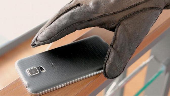Ilustrasi ponsel dicuri