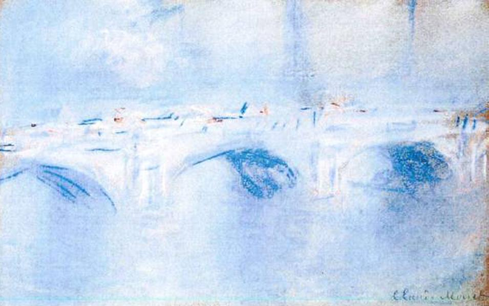 This photo released by the police in Rotterdam, Netherlands, on Tuesday, Oct. 16, 2012, shows the painting 'Waterloo Bridge, London' by Claude Monet. Dutch police say seven paintings stolen from the Kunsthal museum in Rotterdam include one by Pablo Picasso, one by Henri Matisse, and two by Claude Monet. The heist, one of the largest in years in the Netherlands, occurred while the private Triton Foundation collection was being exhibited publicly as a group for the first time. (AP Photo/Police Rotterdam)