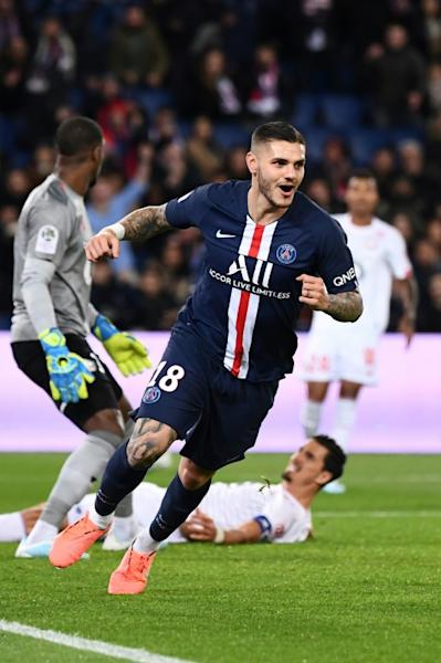Mauro Icardi gave PSG the lead with his 10th goal in nine games