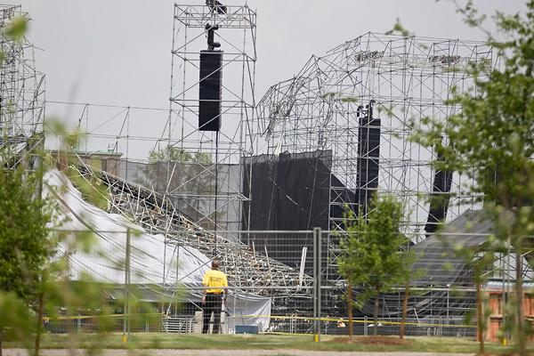 Questions Linger After Radiohead Stage Collapse