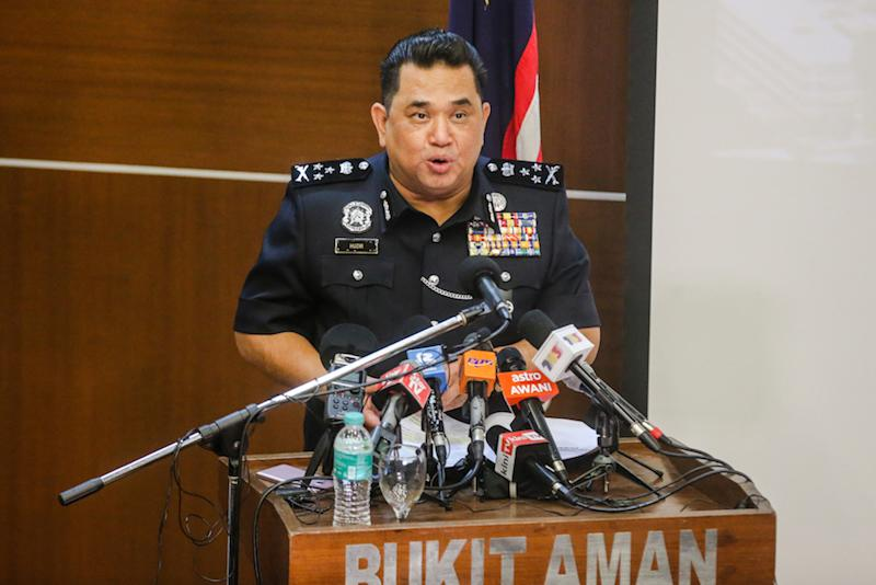 Bukit Aman Criminal Investigation Department director Datuk Huzir Mohamed disclosed today that the investigations were launched into four separate Facebook posts and one WhatsApp exchange. — Picture by Firdaus Latif