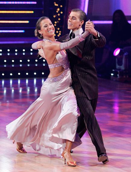 Cody Linley and Edyta Sliwinska perform a dance on the seventh season of Dancing with the Stars.
