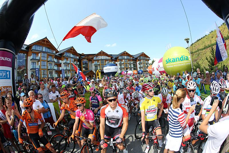 The start of stage 6 of the Tour de Pologne