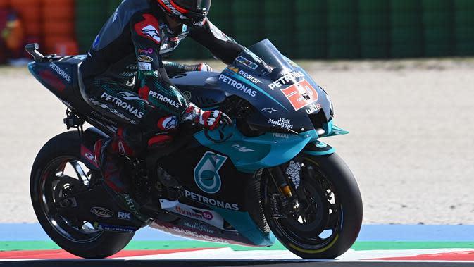 Fabio Quartararo pede hadapi MotoGP Misano (Andreas Solaro/AFP)