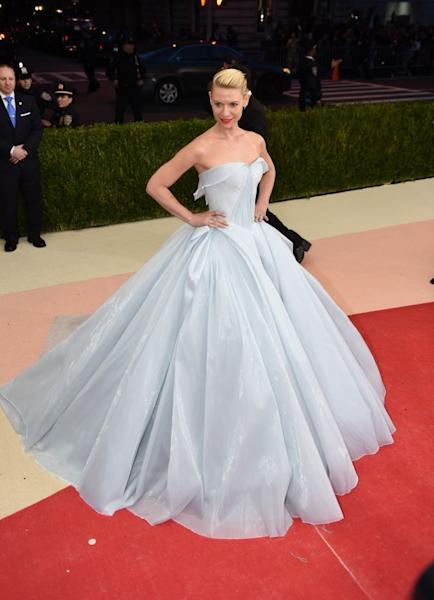Actress Claire Danes took on the role of Cinderella in this extraordinary glow-in-the-dark dress by Zac Posen. New York, May 2, 2016