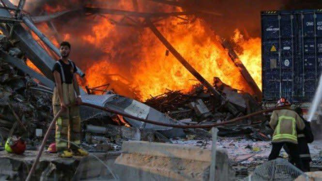 16 Orang Ditangkap Buntut Ledakan Besar di Beirut Lebanon
