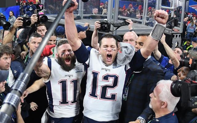 Tom Brady and Julian Edelman celebrate winning Super Bowl LIII - Getty Images North America