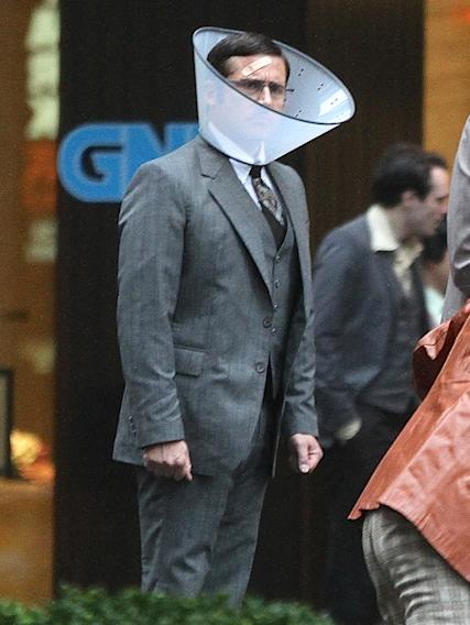 'Anchorman 2' cast wear bandages on set in NYC