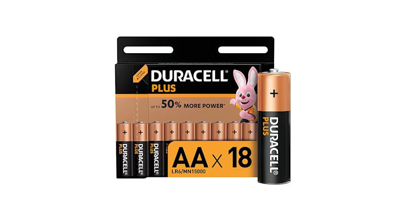 Duracell Plus AA Alkaline Batteries (Pack of 18)